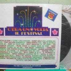 Discos de vinilo: C´ERA UNA VOLTA IL FESTIVAL(BOBBY SOLO,IVA ZANICCHI Y OTROS) 90 DOBLE LP NUEVO¡ PEPETO. Lote 150846682