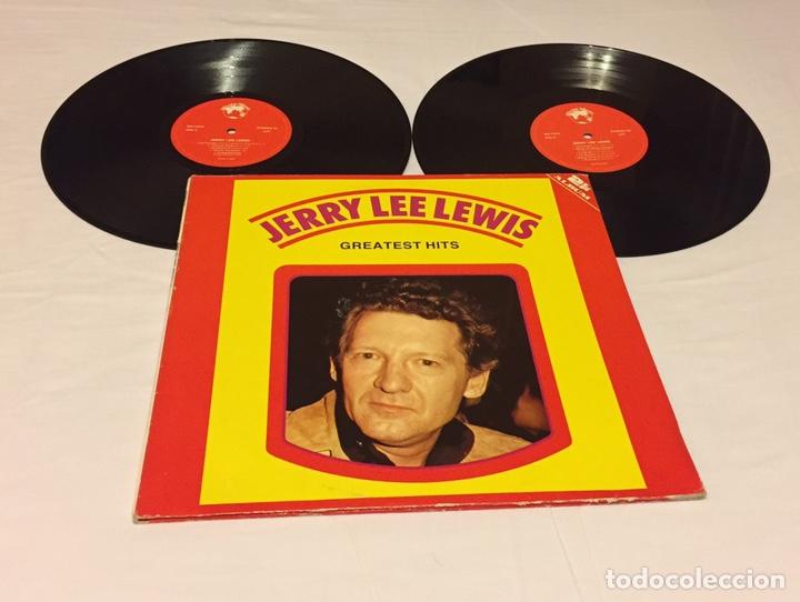 JERRY LEE LEWIS - GREATEST HITS, LP DOBLE GATEFOLD, RECOPILATORIO, EUROPA (Música - Discos - LP Vinilo - Rock & Roll)