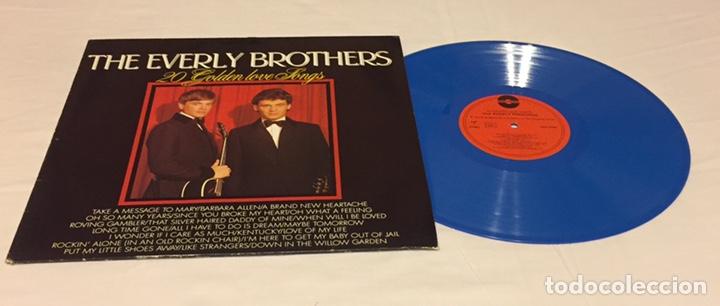 THE EVERLY BROTHERS - 20 GOLDEN LOVE SONGS LP, RECOPILATORIO, AZUL, 1979, HOLANDA, MUY RARO!!! (Música - Discos - LP Vinilo - Rock & Roll)