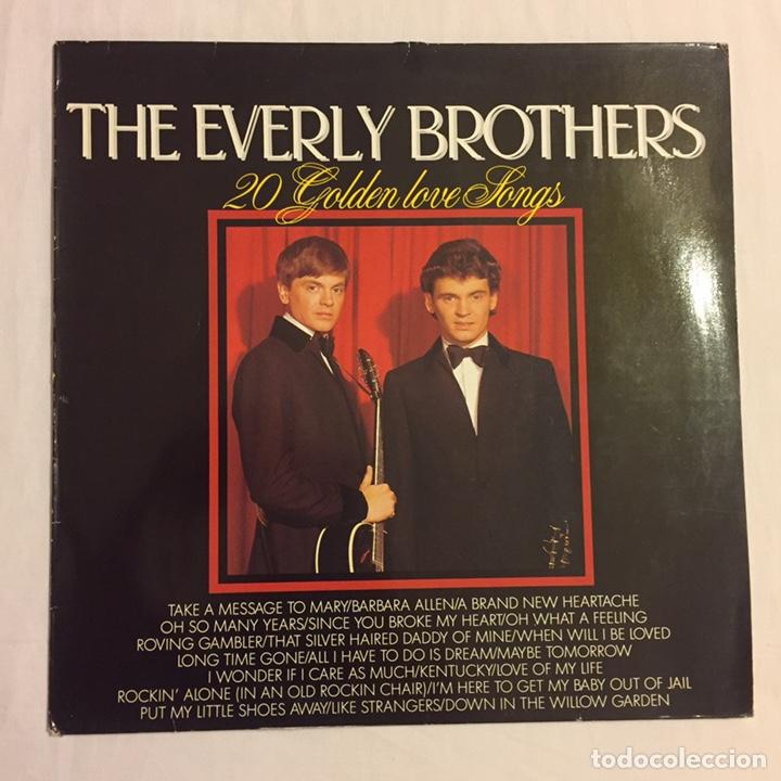 Discos de vinilo: THE EVERLY BROTHERS - 20 GOLDEN LOVE SONGS LP, RECOPILATORIO, AZUL, 1979, HOLANDA, MUY RARO!!! - Foto 2 - 150851754