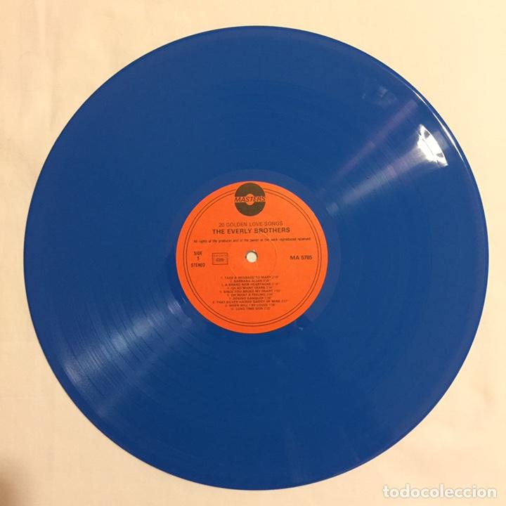Discos de vinilo: THE EVERLY BROTHERS - 20 GOLDEN LOVE SONGS LP, RECOPILATORIO, AZUL, 1979, HOLANDA, MUY RARO!!! - Foto 5 - 150851754