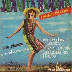 Discos de vinilo: EP JUAN MONTEGO Y EL SONIDO DE LA HABANA JUANITA BANANA MERCURY 152064 SPAIN. Lote 150920734