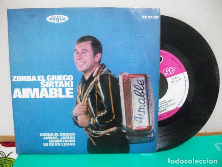AIMABLE - ZORBA EL GRIEGO / JAMÁS, JAMÁS / DOWNTOWN / SE DE UN LUGAR - EP1965 (Música - Discos de Vinilo - EPs - Orquestas)