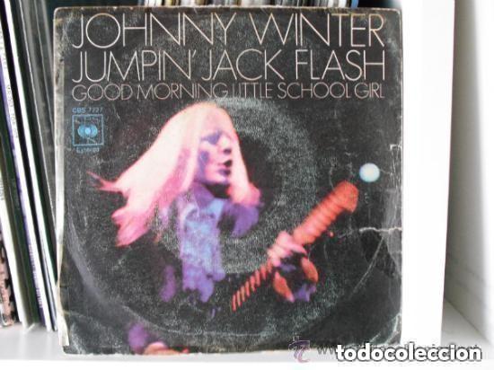 JOHNNY WINTER - JUMPIN´ JACK FLASH (SG) 1971 (Música - Discos - Singles Vinilo - Pop - Rock - Extranjero de los 70)