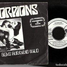 Discos de vinilo: SCORPIONS: SINGEL PROMOCIONAL DE 1984- HEAVY METAL COLECCIONISTAS- MUY BIEN-OFERTA. Lote 150934938