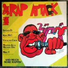 Discos de vinilo: NON STOP RAP ATTACK LP, MIXED 1986 HIP HOP OLD SCHOOL - SPYDER-D,KING MC,VAN & HIS CREW,ETC.... Lote 150935122
