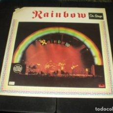 Discos de vinilo: RAINBOW LP DOBLE ON STAGE. Lote 150952658