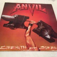 Discos de vinilo: ANVIL -STRENGTH OF STEEL- (1987) LP DISCO VINILO. Lote 150954554