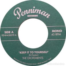 Vinyl records - THE EXCITEMENTS Keep It To Yourself (Single) . rhythm and blues ike and tina turne - 150966366