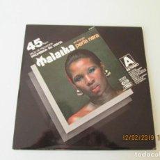 Discos de vinilo: PERLA NERA MALAIKA / LOVE AND KISSES PISCO PROMO CON HOJA PROMOCIONAL DETALLE COLECCIONISTA. Lote 150966926