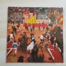 Discos de vinilo: 7 DE JULIO SAN FERMIN - LP - VINILO - EKIPO - 1969. Lote 150977422
