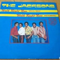 Discos de vinilo: MAXI WALK RIGHT NOW MICHAEL JACKSON THE JACKSONS. Lote 150983296