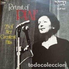 Discos de vinilo: PIAF* - PORTRAIT OF PIAF (25 OF HER GREATEST HITS) (2XLP, COMP) LABEL:DOUBLE-UP, DOUBLE-UP, EMI, EM. Lote 150983626