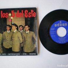 Discos de vinilo: LOS 5 DEL ESTE - SATISFACCION + 3 - ODEON EMI DSOE16681 AÑO 1965. Lote 150983694