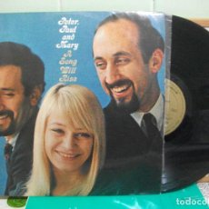 Discos de vinilo: PETER, PAUL & MARY A SONG WILL RISE LP SPAIN 1966 PDELUXE. Lote 150992594