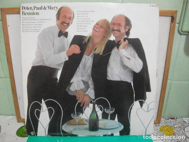 Discos de vinilo: PETER, PAUL & MARY REUNION LP SPAIN 1977 PDELUXE - Foto 2 - 150993734