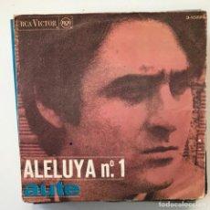 Discos de vinilo: LUIS EDUARDO AUTE - ALELUYA Nº 1 / ROJO SOBRE NEGRO - SINGLE RCA 1967 . Lote 150995370