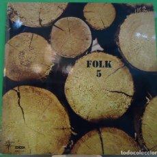 Discos de vinilo: LP VARIOUS - FOLK 5 . Lote 150997778