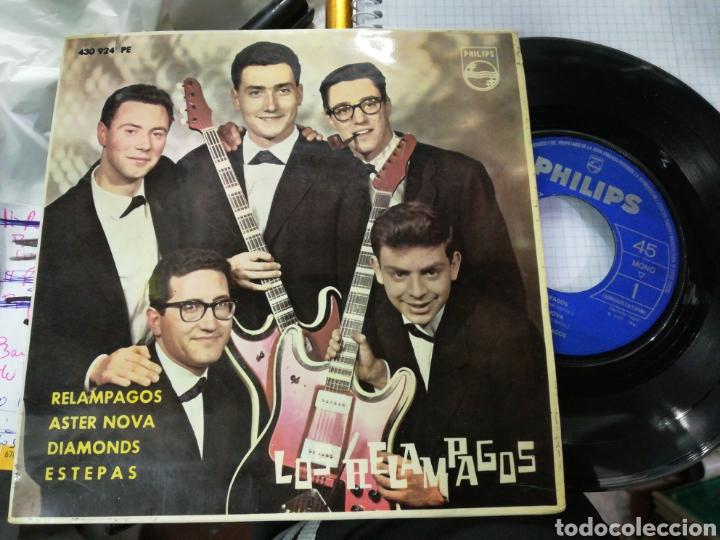 LOS RELÁMPAGOS EP RELÁMPAGOS + 3 1963 ESCUCHADO (Música - Discos de Vinilo - EPs - Grupos Españoles 50 y 60)