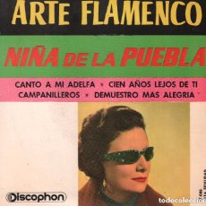 Discos de vinilo: NIÑA DE LA PUEBLA - EP - CANTO A MI ADELFA + 3 - DISCOPHON - 1962. Lote 151012382