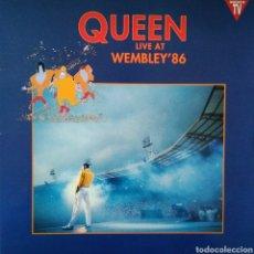 Discos de vinilo: QUEEN - LIVE AT WEMBLEY 86 - ESPAÑA - DOBLE LP - GATEFOLD - 1992 - PARLOPHONE - COMPLETO. Lote 151027498