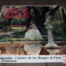 Discos de vinilo: VALSES DE JOHANN STRAUSS VALS DEL EMPERADOR CUENTOS DE LOS BOSQUES DE VIENA EP VINILO CLASICA SVG. Lote 151038478