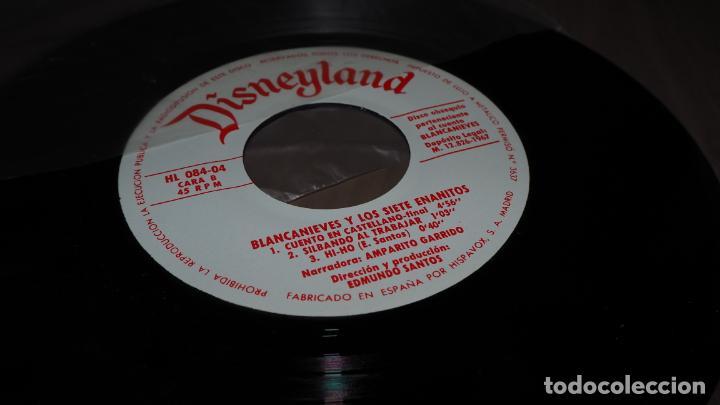 DISNEYLAND BLANCANIEVES Y LOS SIETE ENANITOS SINGLE EP VINILO CUENTO INFANTIL SVG (Música - Discos - Singles Vinilo - Música Infantil)