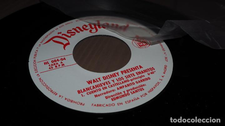 Discos de vinilo: DISNEYLAND BLANCANIEVES Y LOS SIETE ENANITOS SINGLE EP VINILO CUENTO INFANTIL SVG - Foto 2 - 151040258