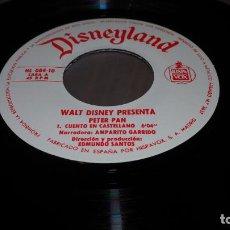 Discos de vinilo: DISNEYLAND WALT DISNEY PRESENTA PETER PAN CUENTO EN CASTELLANO SINGLE EP VINILO INFANTIL SVG. Lote 151040294