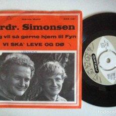 Discos de vinilo: BRDR. SIMONSEN - JEG VIL SÅ GERNE HJEM / VI SKA LEVE OG - SINGLE DANÉS 1970 - OKTAV. Lote 151047410