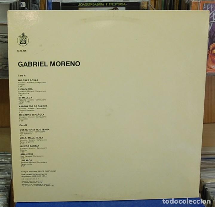 Discos de vinilo: LMV - Gabriel Moreno. Hispavox 1979, ref. S 20.196. LP - Foto 2 - 151053178