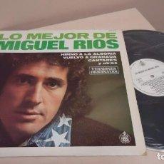Discos de vinilo: LO MEJOR DE MIGUEL RIOS -HIMNO A LA ALEGRIA -VERSIONES ORIGINALES - HISPAVOX- 1980- MADRID . Lote 151069394