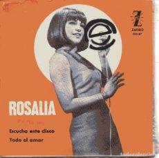 Discos de vinilo: ROSALIA CON LOS RELAMAPAGOS / ESCUCHA ESTE DISCO / TODO EL AMOR (SINGLE 1965). Lote 151071554