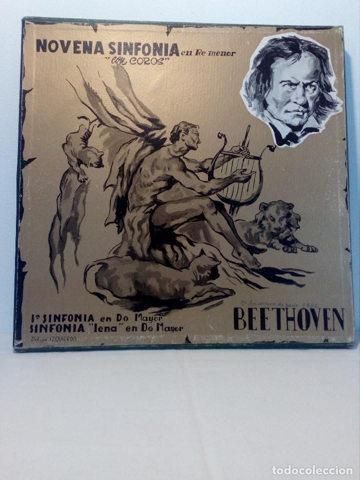 BEETHOVEN CAJA CON 2 LP LIBRETO CID 3039-3040 (DISCOS CID) DIBUJO PORTADA: IZQUIERDO (Música - Discos - LP Vinilo - Clásica, Ópera, Zarzuela y Marchas)