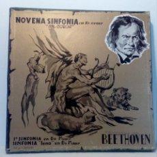 Discos de vinilo: BEETHOVEN CAJA CON 2 LP LIBRETO CID 3039-3040 (DISCOS CID) DIBUJO PORTADA: IZQUIERDO. Lote 151076842