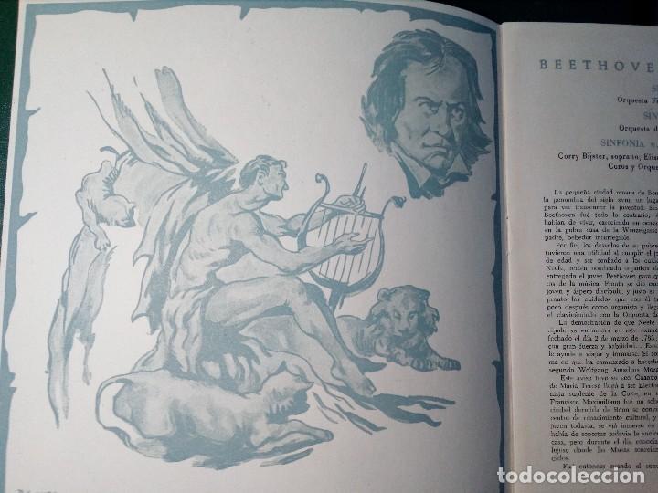 Discos de vinilo: BEETHOVEN CAJA CON 2 LP LIBRETO CID 3039-3040 (DISCOS CID) DIBUJO PORTADA: IZQUIERDO - Foto 8 - 151076842