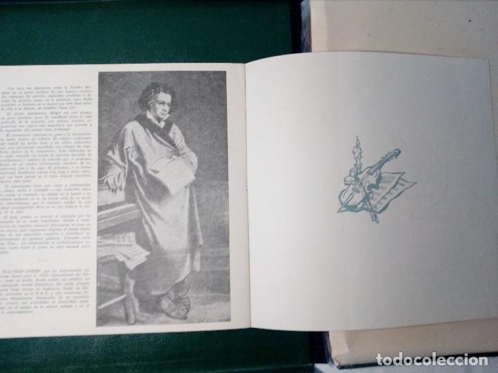 Discos de vinilo: BEETHOVEN CAJA CON 2 LP LIBRETO CID 3039-3040 (DISCOS CID) DIBUJO PORTADA: IZQUIERDO - Foto 10 - 151076842