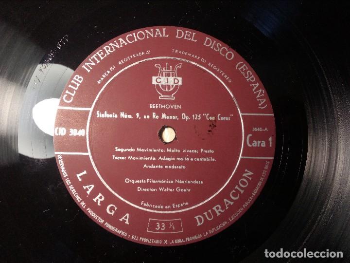 Discos de vinilo: BEETHOVEN CAJA CON 2 LP LIBRETO CID 3039-3040 (DISCOS CID) DIBUJO PORTADA: IZQUIERDO - Foto 13 - 151076842