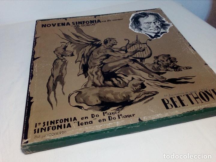 Discos de vinilo: BEETHOVEN CAJA CON 2 LP LIBRETO CID 3039-3040 (DISCOS CID) DIBUJO PORTADA: IZQUIERDO - Foto 24 - 151076842