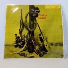 Discos de vinilo: DISCO VINILO LP DE TANGOS CANTADOS POR CARLOS GARDEL (RCA 3L12025 ESPAÑA AÑO 1958). Lote 151079326