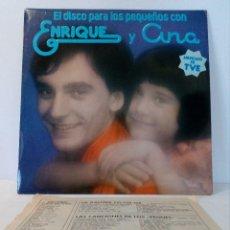 Discos de vinilo: ENRIQUE Y ANA - EL DISCO PARA LOS PEQUEÑOS (INCLUYE RECORTE DE REVISTA DE LA ÉPOCA). Lote 151082890