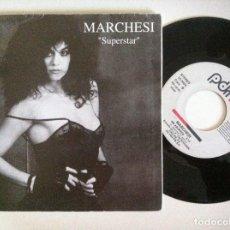 Discos de vinilo: LEONOR MARCHESI - SUPERSTAR / ME ABURREN - SINGLE PROMOCIONAL 1992 - PDI. Lote 151115014