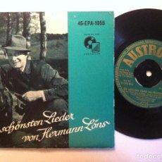 Discos de vinilo: ANITA RODY UND GEORG STERN - DIE SCHÖNSTEN LIEDER VON HERMANN LÖNS - SINGLE ALEMAN - AUSTROTON. Lote 151132474