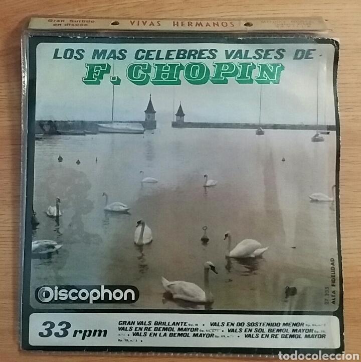 RAREZA. LOS MÁS CÉLEBRES VALSES DE CHOPIN. SINGLE 33RPM. DISCOPHON 1964. (Música - Discos - Singles Vinilo - Clásica, Ópera, Zarzuela y Marchas)