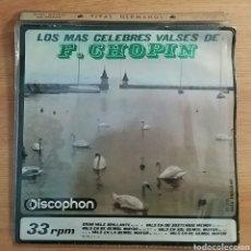 Discos de vinilo: RAREZA. LOS MÁS CÉLEBRES VALSES DE CHOPIN. SINGLE 33RPM. DISCOPHON 1964.. Lote 151138538
