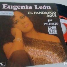 Discos de vinilo: SINGLE (VINILO) DE EUGENIA LEON AÑOS 80 ( FESTIVAL DE LA OTI). Lote 151139866