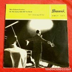 Discos de vinilo: LOUIS ARMSTRONG ALL STARS (EP. 1959) NEW ORLEANS FUNCTION - ON THE SUNNY SIDE OF THE STREET - JAZZ. Lote 151147382