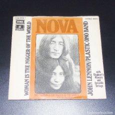 Discos de vinilo: JOHN LENNON/ WOMAN IS THE NIGGER OF THE WORLD --- AÑO 1972 -- J-006-20.922149. Lote 151143282