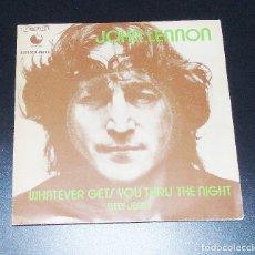 Discos de vinilo: JOHN LENNON ------WHATEVER GETS YOU THRU´THE NIGHT --- AÑO 1972. Lote 151143566