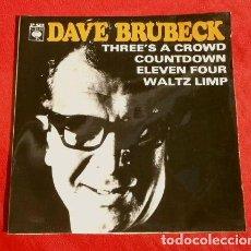 Discos de vinilo: DAVE BRUBECK (EP. 1966) THE DAVE BRUBECK QUARTET - COUNTDOWN - WALTZ LIMP - ELEVEN FOUR - JAZZ. Lote 151152690